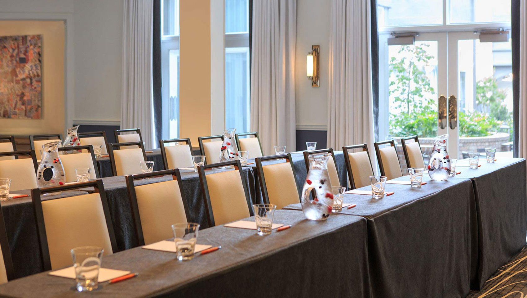 The Kimpton Brice Hotel conference boardroom