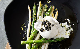 Pacci Italian Kitchen and bar asparagus burrata